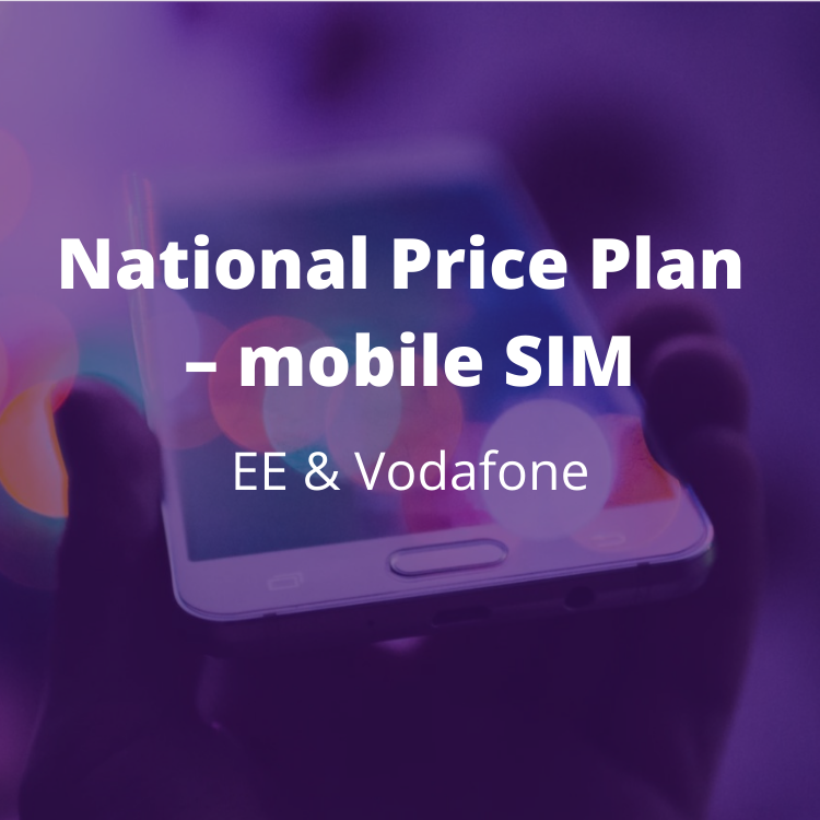 Price plan for non-critical mobile voice and data services with EE and Vodafone. BENEFITS: Complements the Emergency Services Network transition work already in progress. Immediate and significant savings at the point of moving services to EE or Vodafone or for renewal for existing customers.