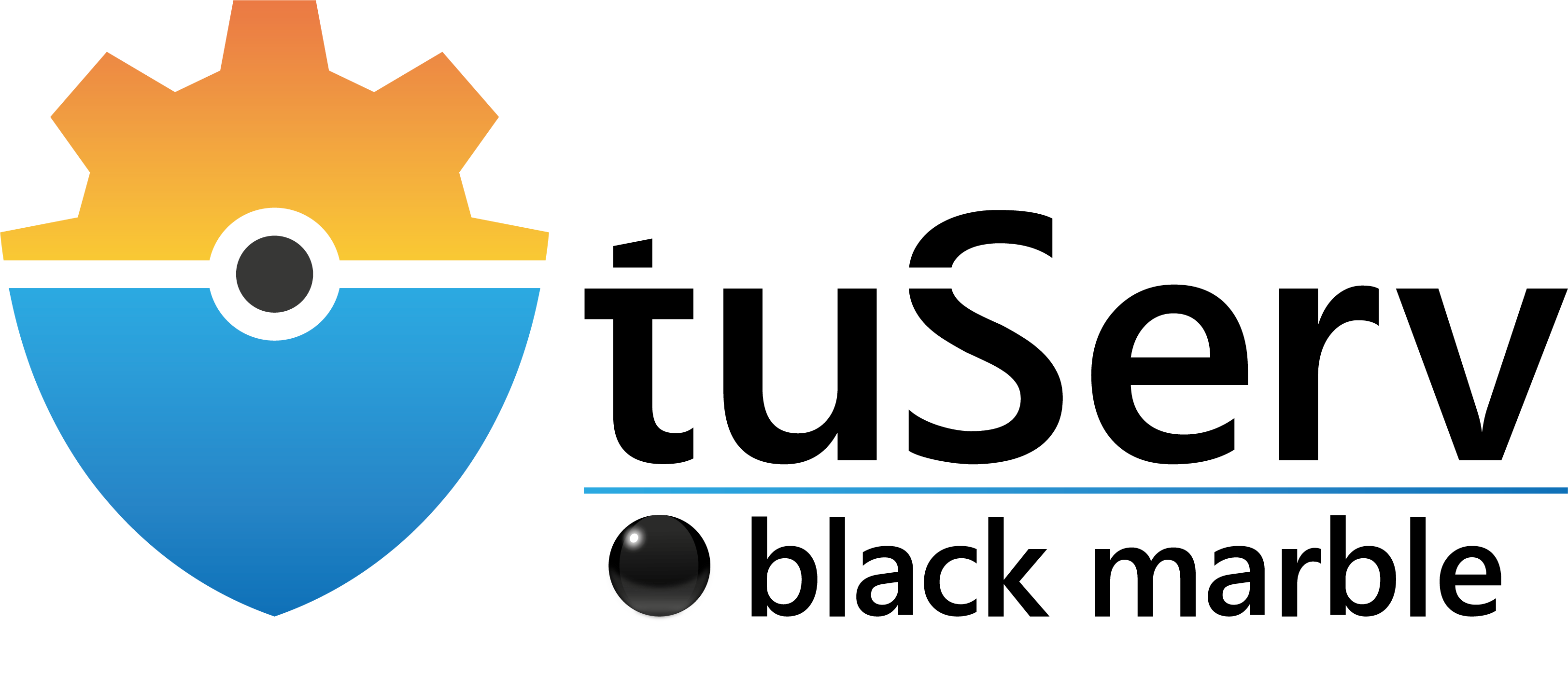 Logo tuServ black
